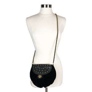 Rebecca Minkoff Black Velvet Studded Sample Bag